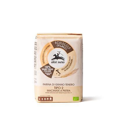 """Farina di grano tenero tipo """"2"""" biologica macinata a pietra"""