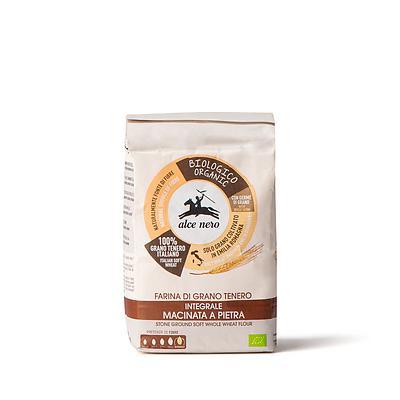 Farina integrale di grano tenero biologica macinata a pietra
