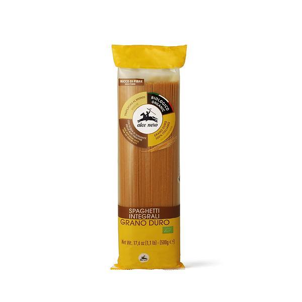 Spaghetti integrali di grano duro biologici