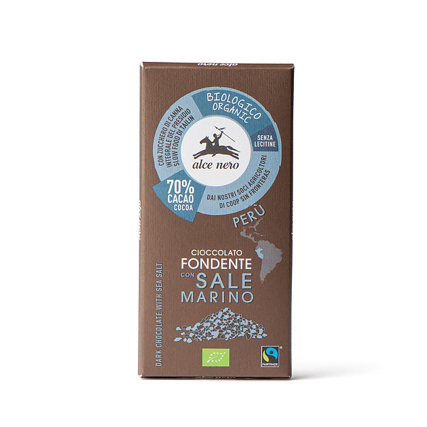 Cioccolato fondente 70% con sale marino biologico