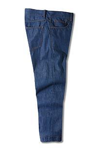 Slim-fit cotton five-pocket denim trousers