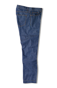 Slim-fit stretch cotton five-pocket denim trousers