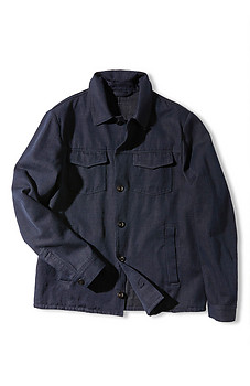 Semi-lined jacket in denim cotton