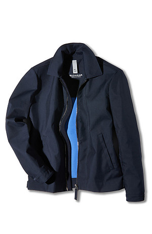 Technical fabric unlined padded jacket