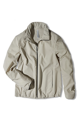 Technical fabric padded jacket