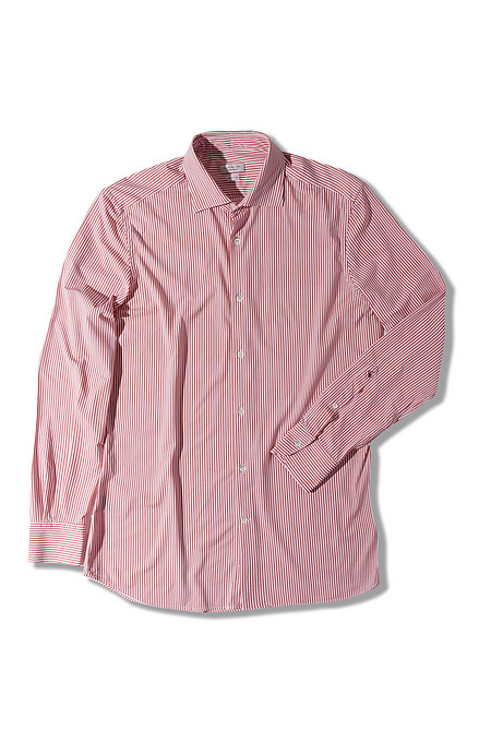 Slim-fit technical fabric shirt